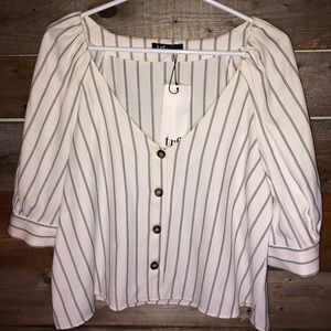 Zara trf collection button down blouse XL NWT